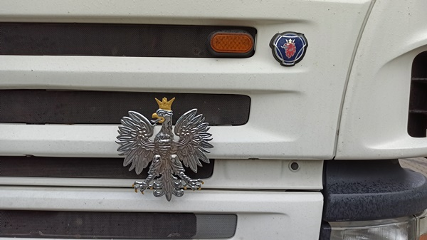 emblemat polski orzel dla kierowcy