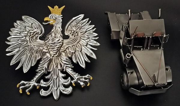 Polskie emblematy do samochodów Tuning rękodzieło